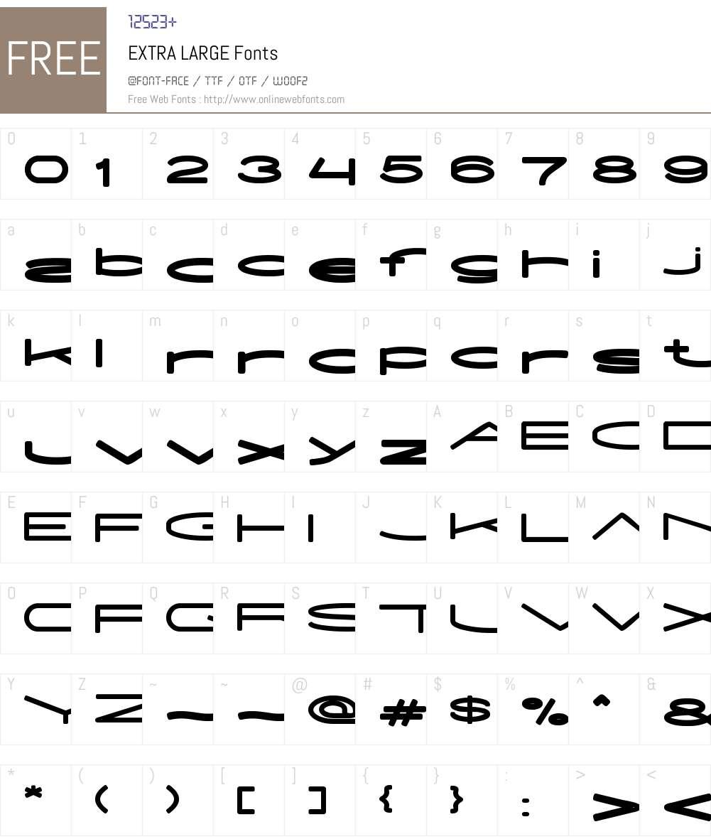 EXTRA LARGE Font Screenshots