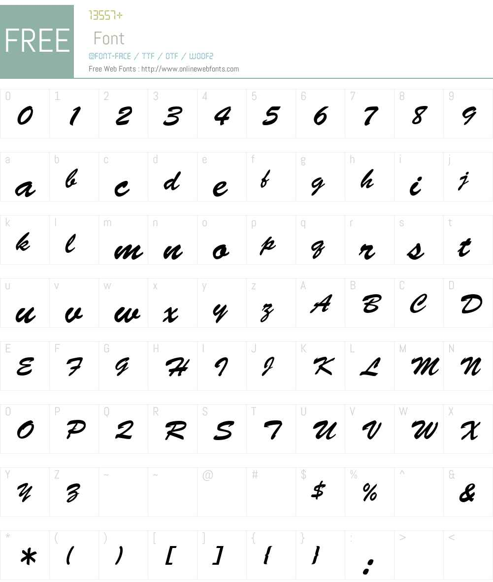 Brush Script LT Font Screenshots