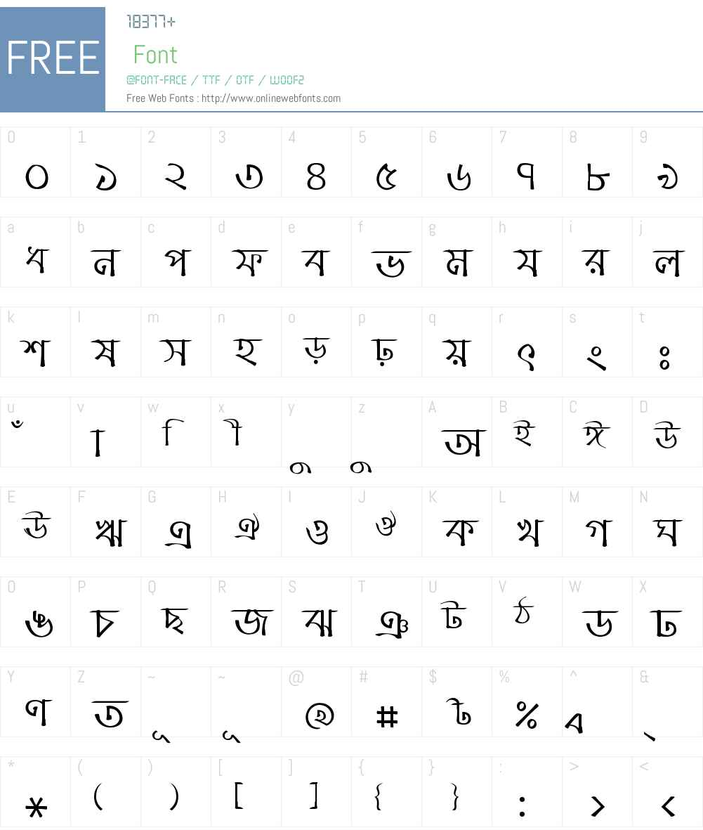 Charu Chandan Font Screenshots