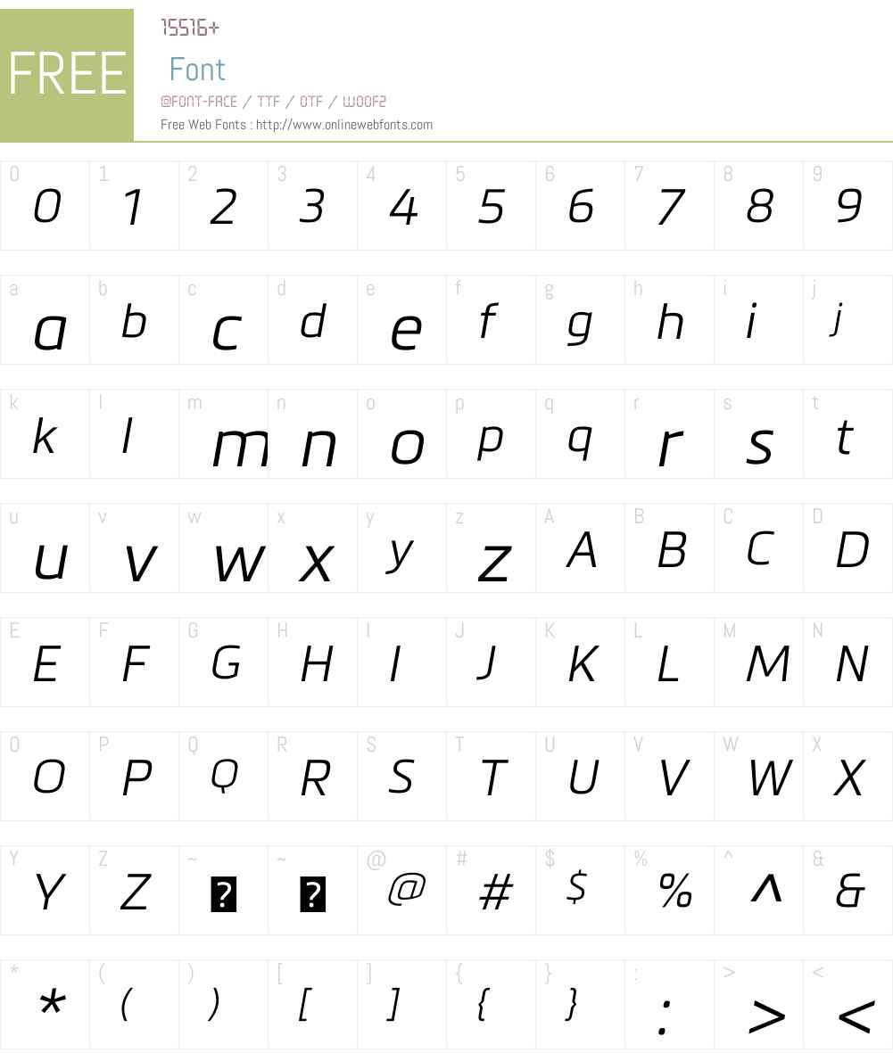 MetronicW01-LightItalic Font Screenshots