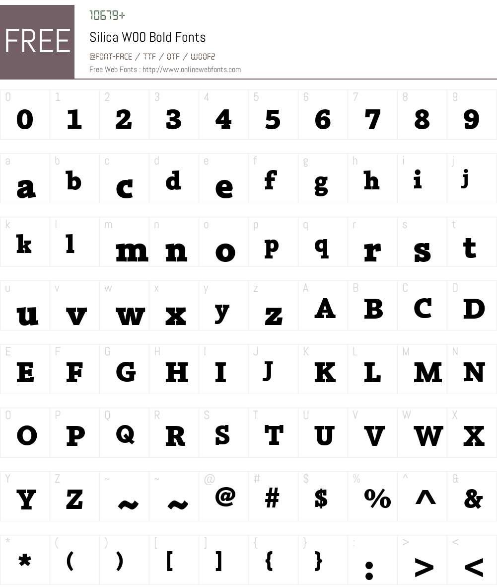 SilicaW00-Bold Font Screenshots