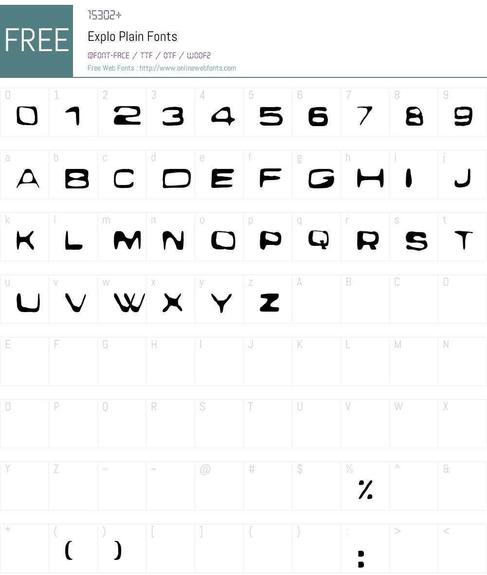 Exploit Font Screenshots