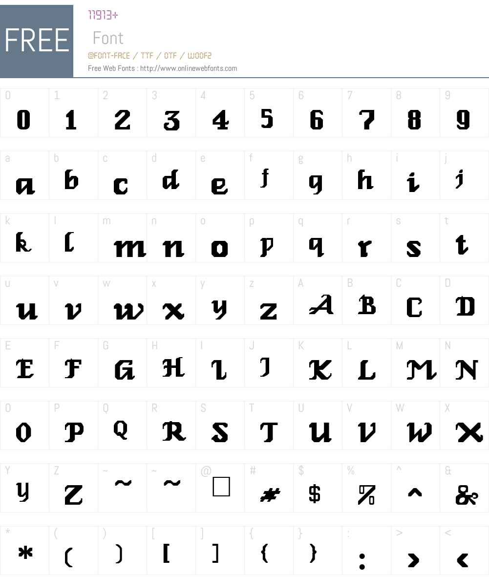 Relbe Font Screenshots