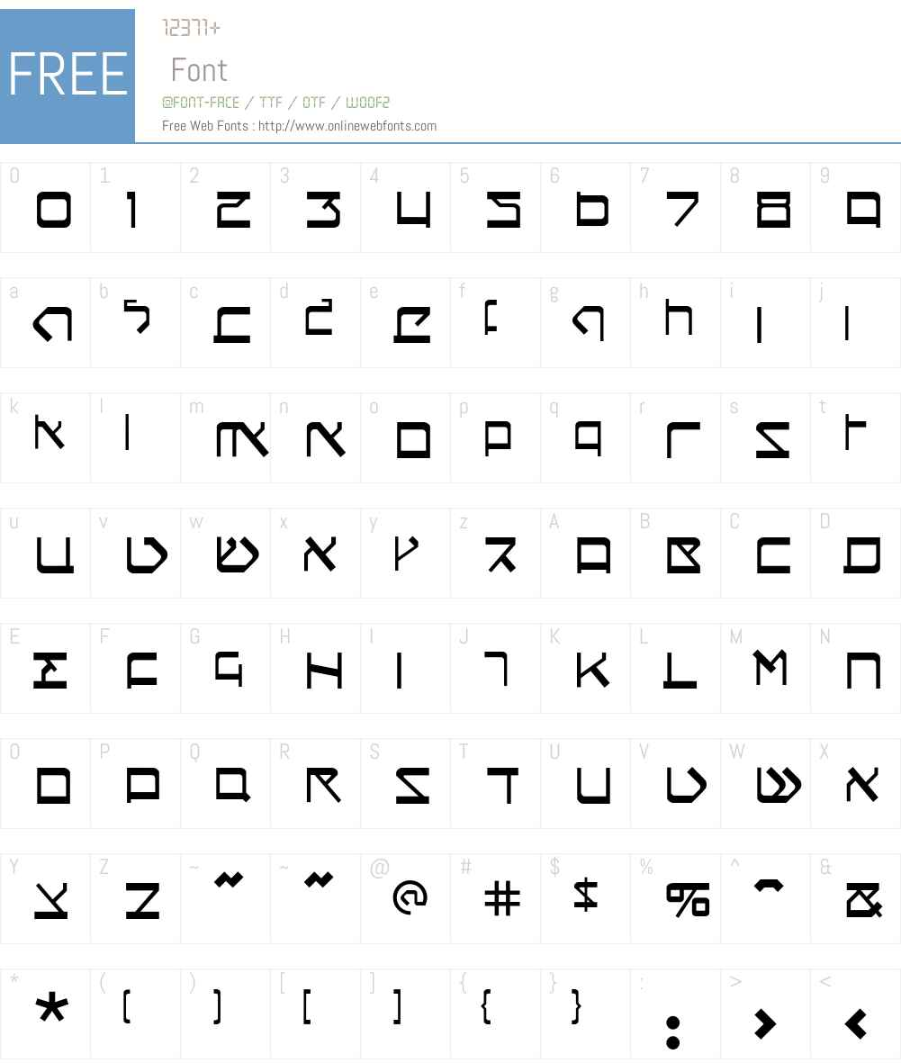 Circumcision Font Screenshots