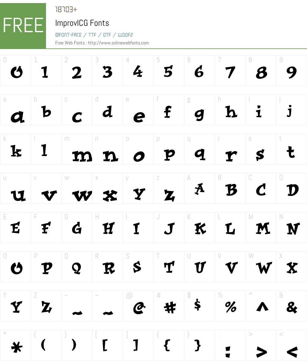 ImprovICG Font Screenshots