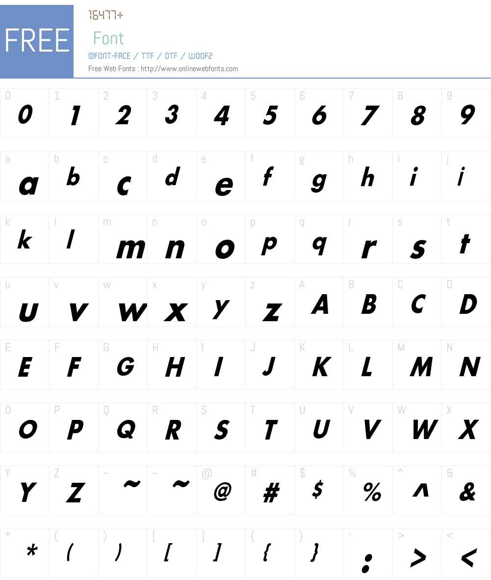 BelmarCndObl-Bo Font Screenshots