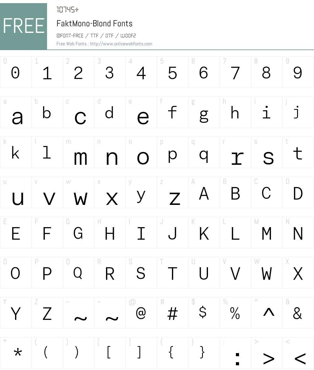 Fakt Mono Font Screenshots
