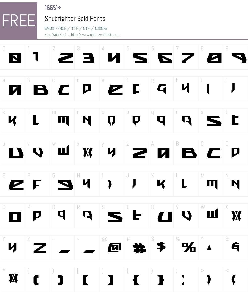 Snubfighter Bold Font Screenshots