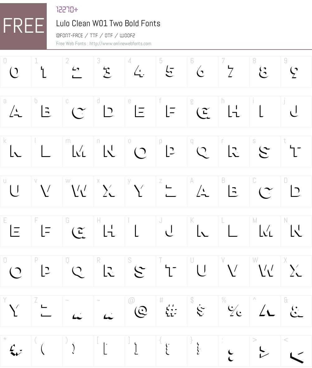 LuloCleanW01-TwoBold Font Screenshots