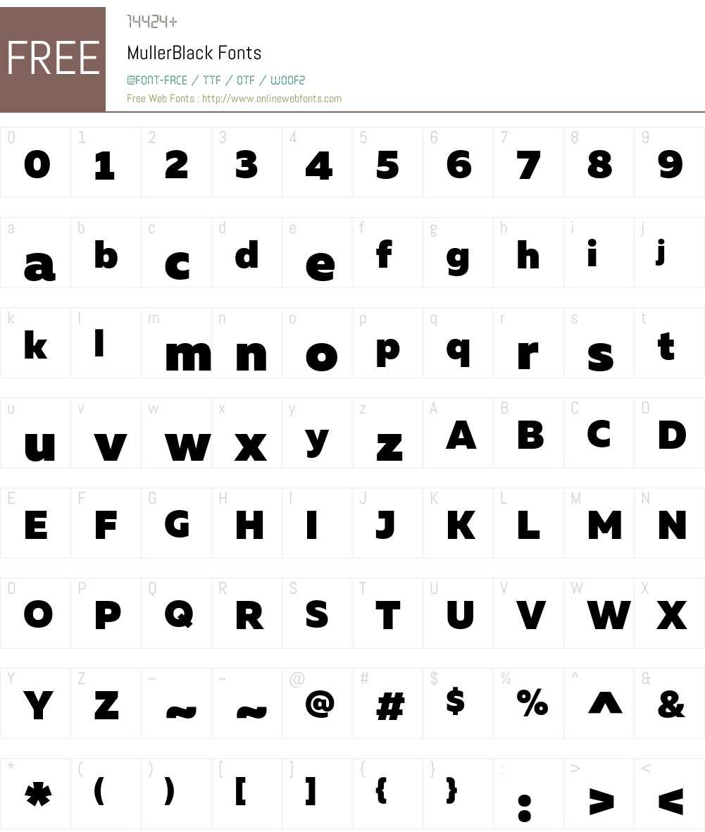 MullerBlack Font Screenshots