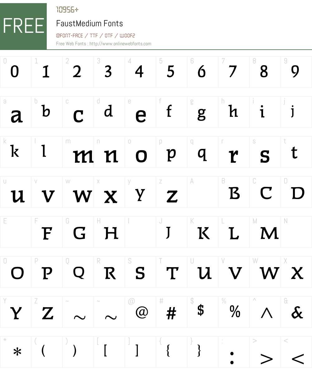 FaustMedium Font Screenshots