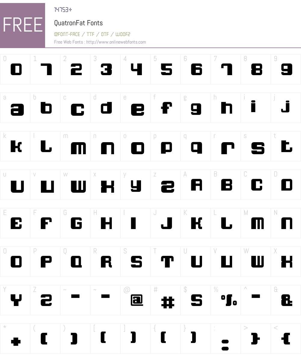 QuatronFat Font Screenshots