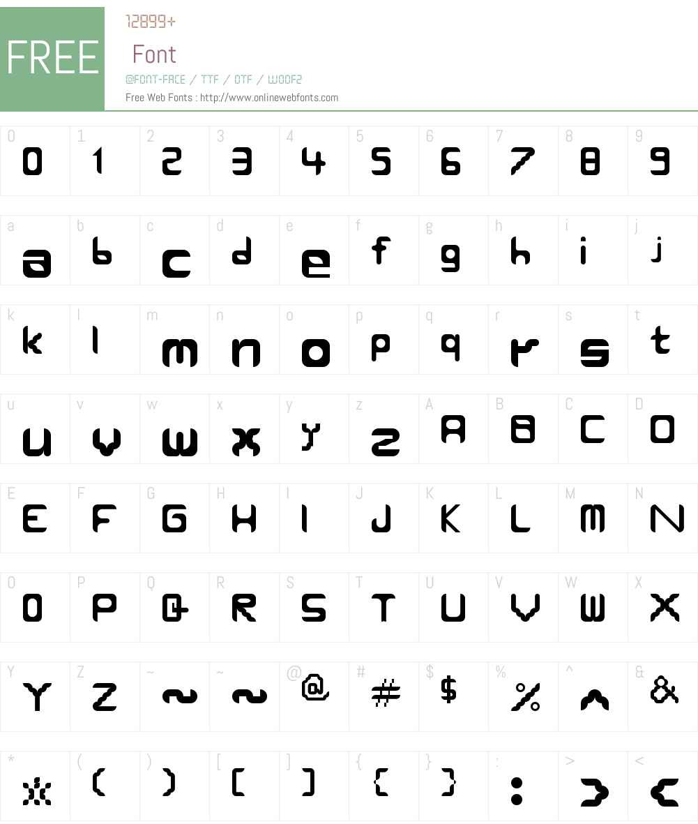 Round Edges Font Screenshots