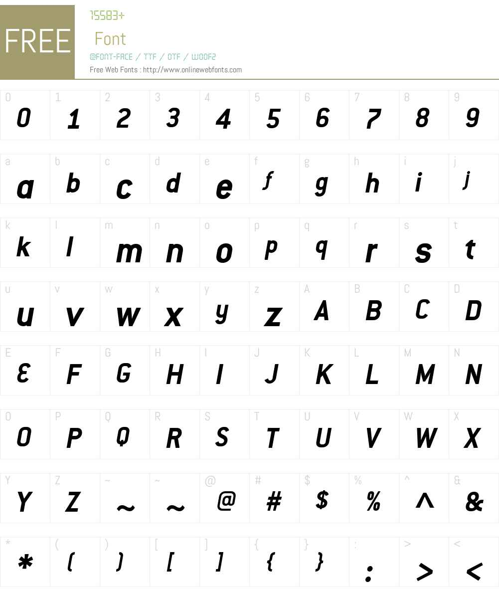 ConduitITCW01-BoldItalic Font Screenshots
