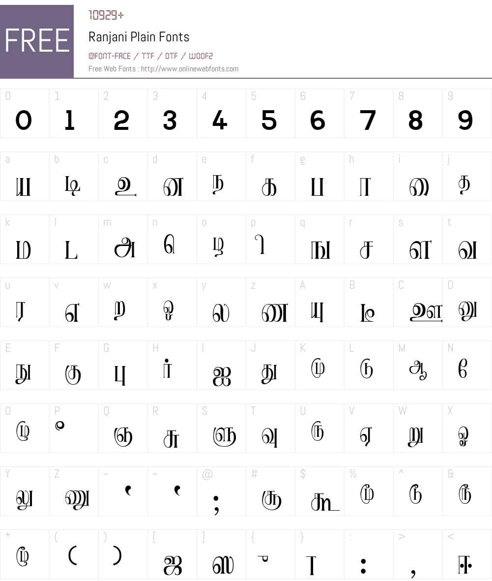 Ranjani Font Screenshots