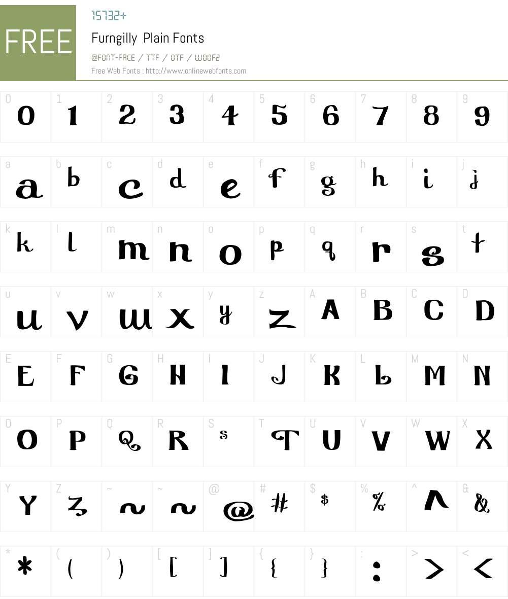 Furngilly Font Screenshots