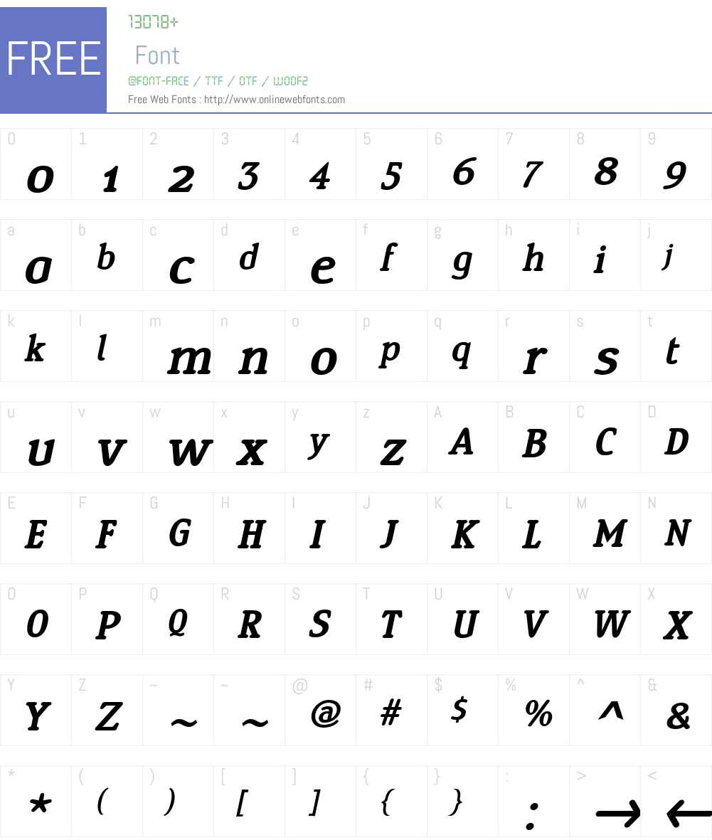 YingW01-SemiBoldItalic Font Screenshots