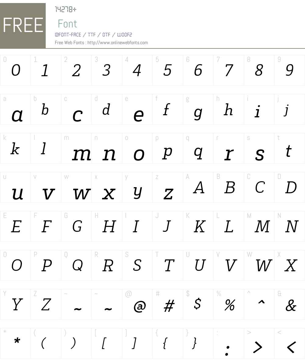 Decour Soft Font Screenshots