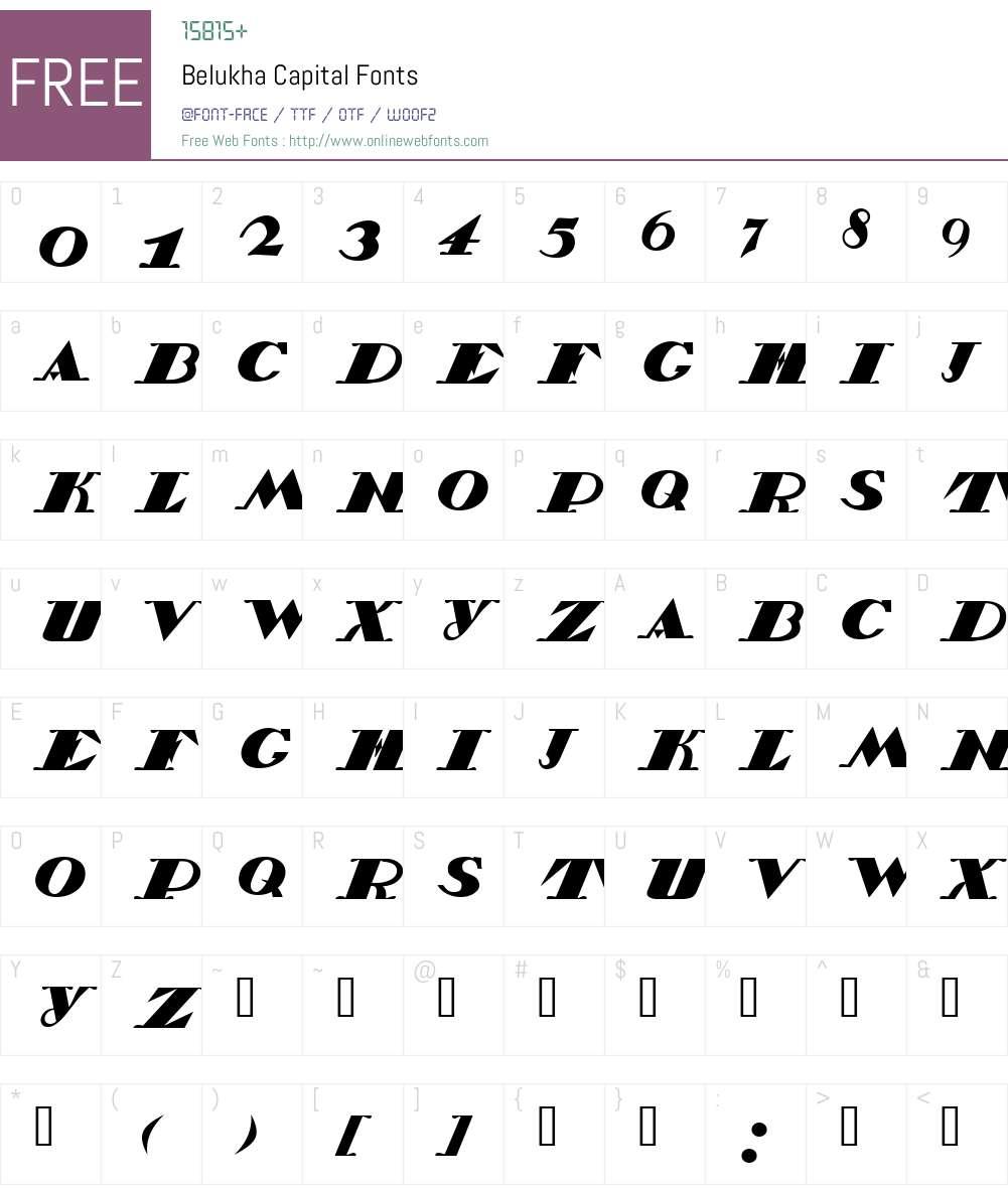 Belukha Capital Font Screenshots