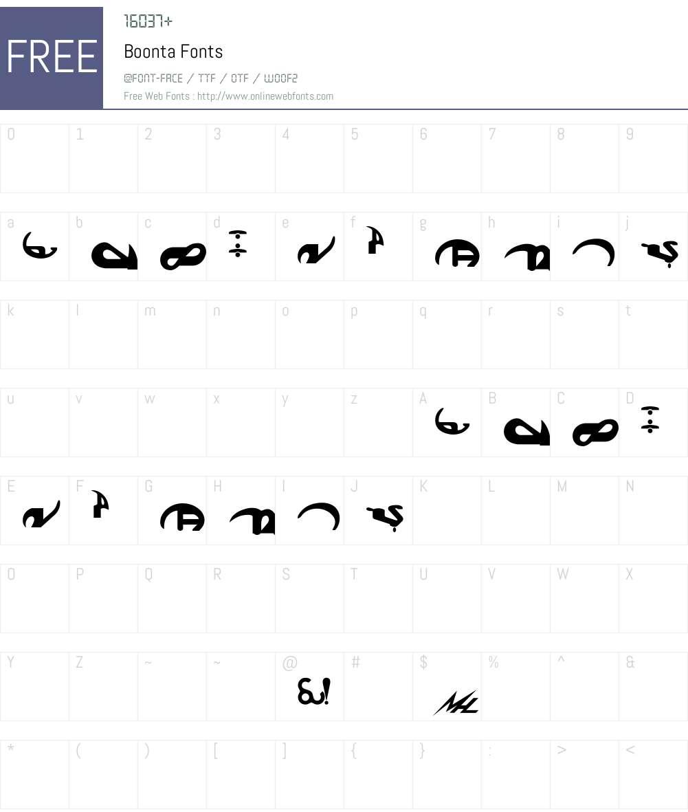 Boonta Font Screenshots