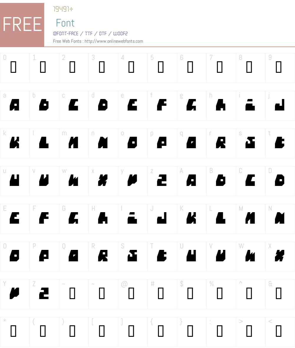 mahoney Font Screenshots