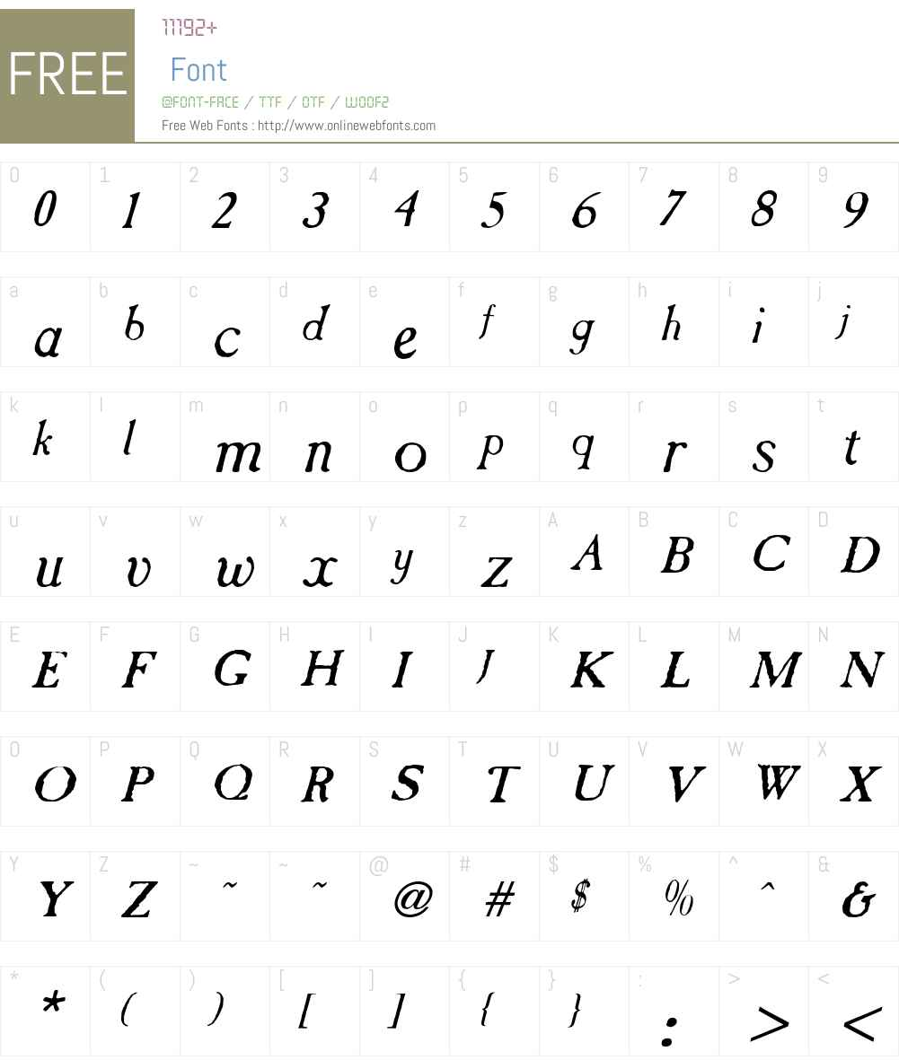 CasablancaAntique Font Screenshots