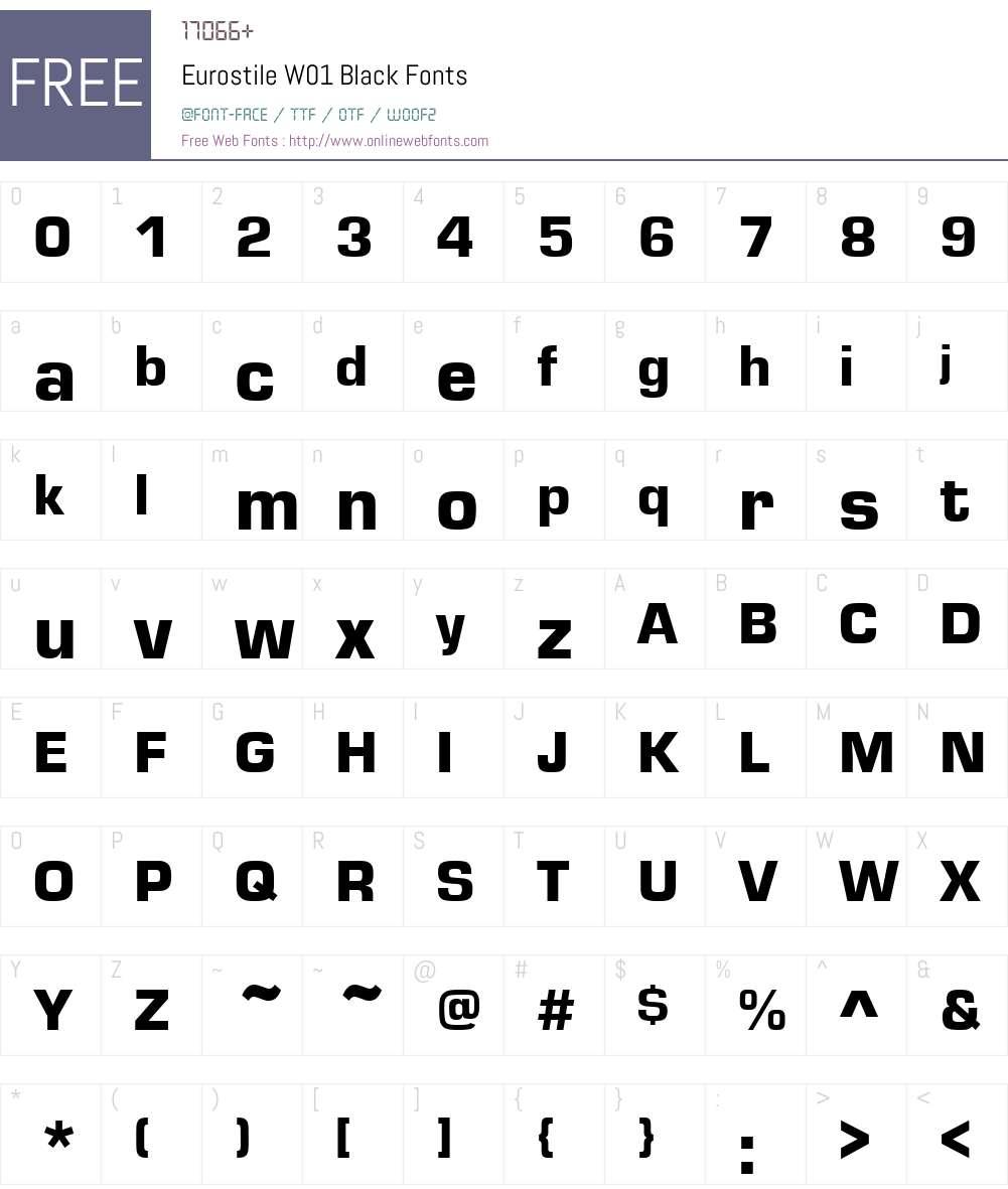 EurostileW01-Black Font Screenshots