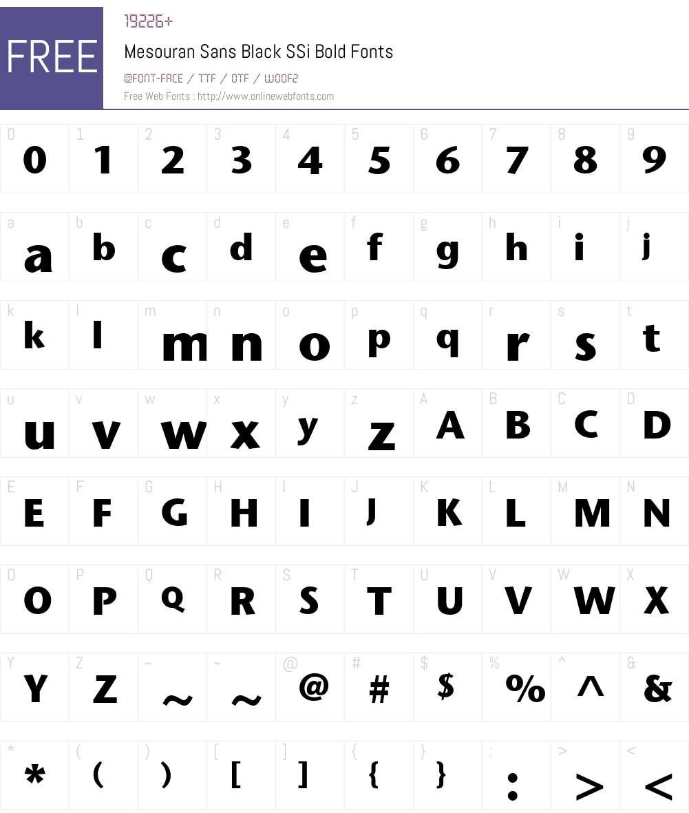 Mesouran Sans Black SSi Font Screenshots