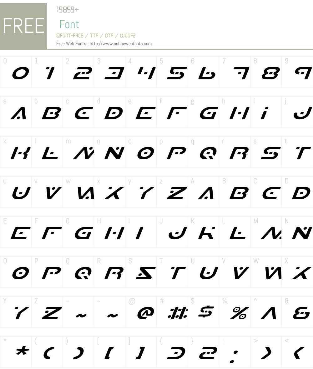 Planet S Expanded Italic Font Screenshots