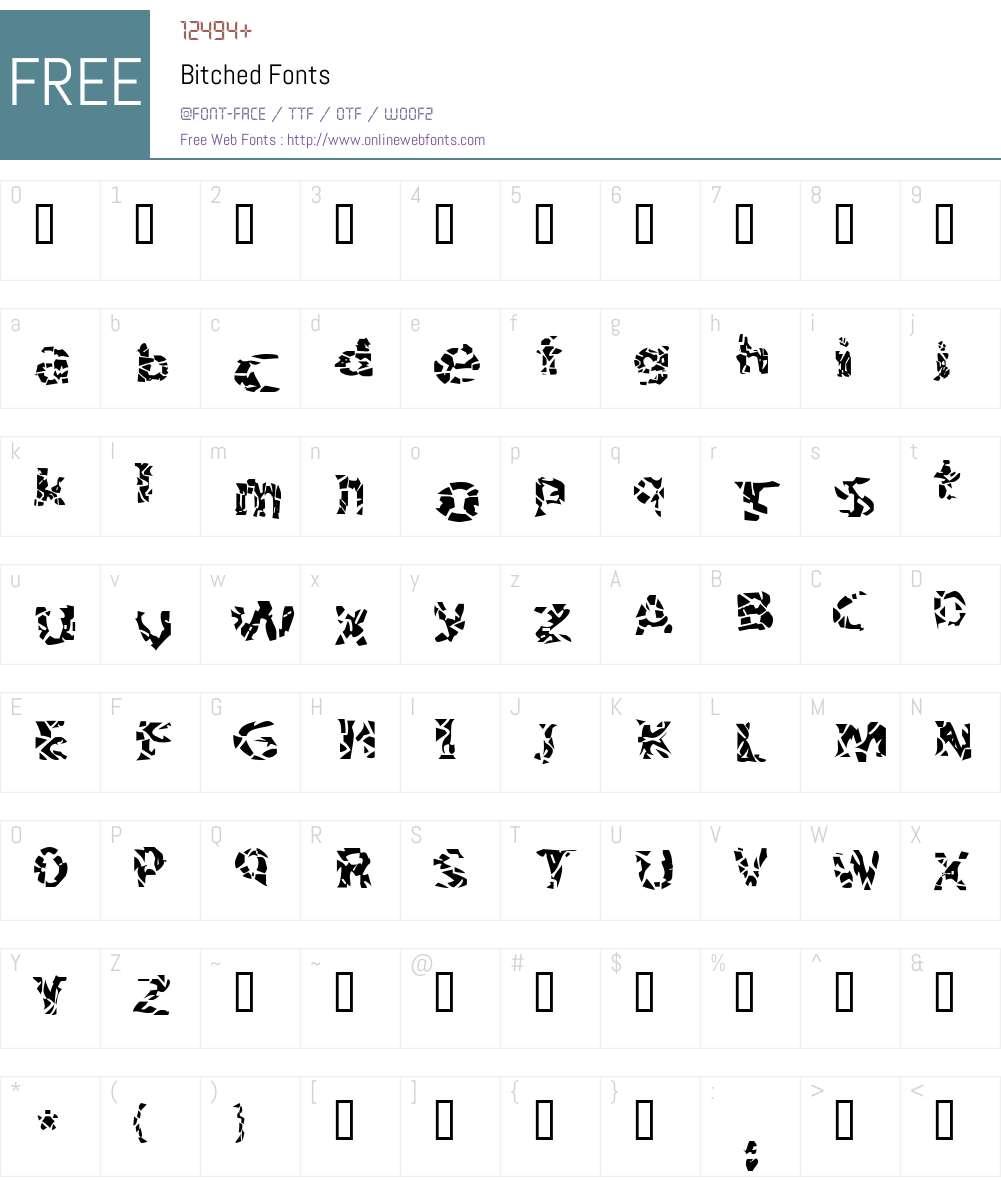 Bitched Font Screenshots