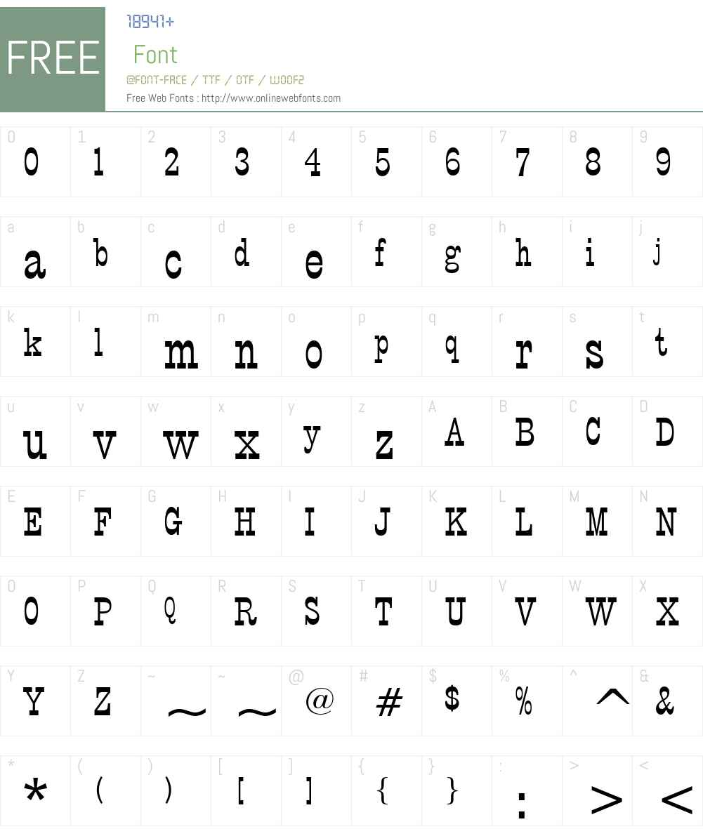 PTBarnum BT Font Screenshots
