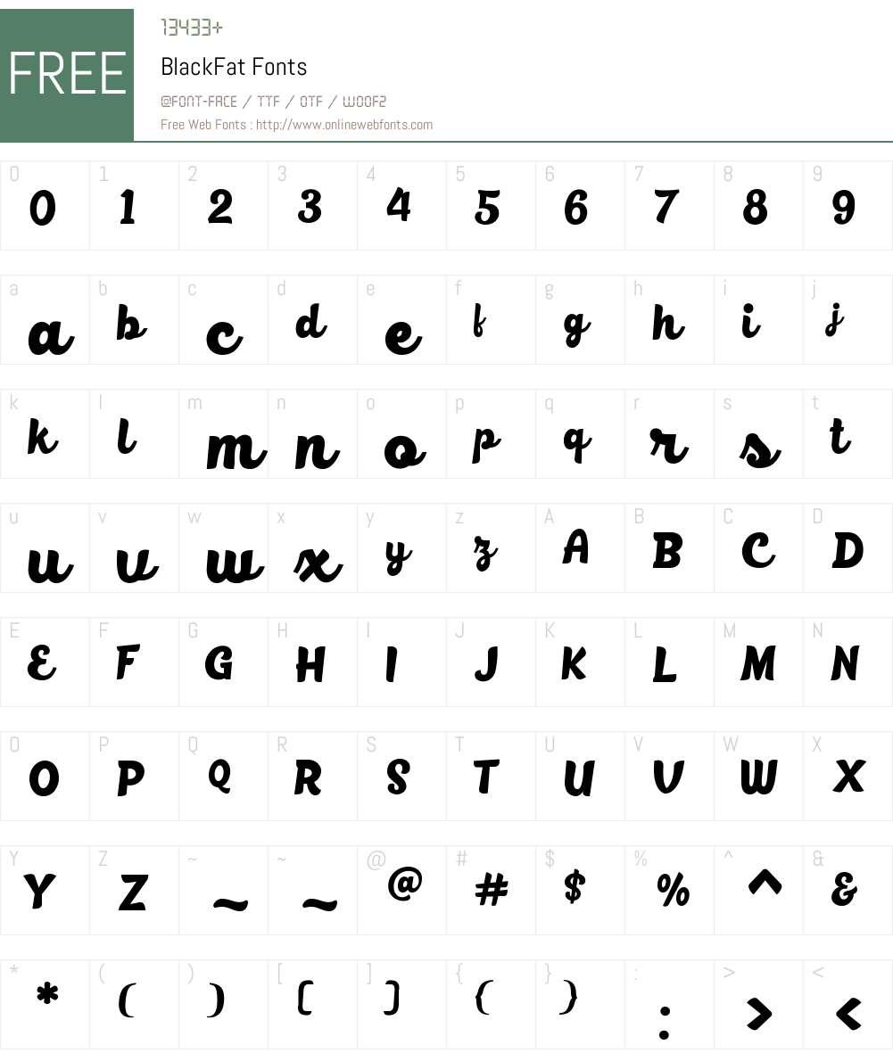 BlackFat Font Screenshots