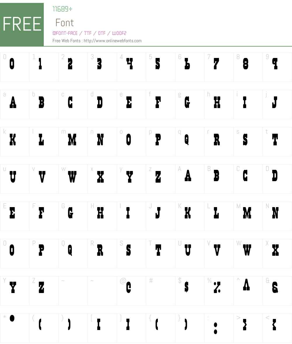 Regulators Condensed Font Screenshots
