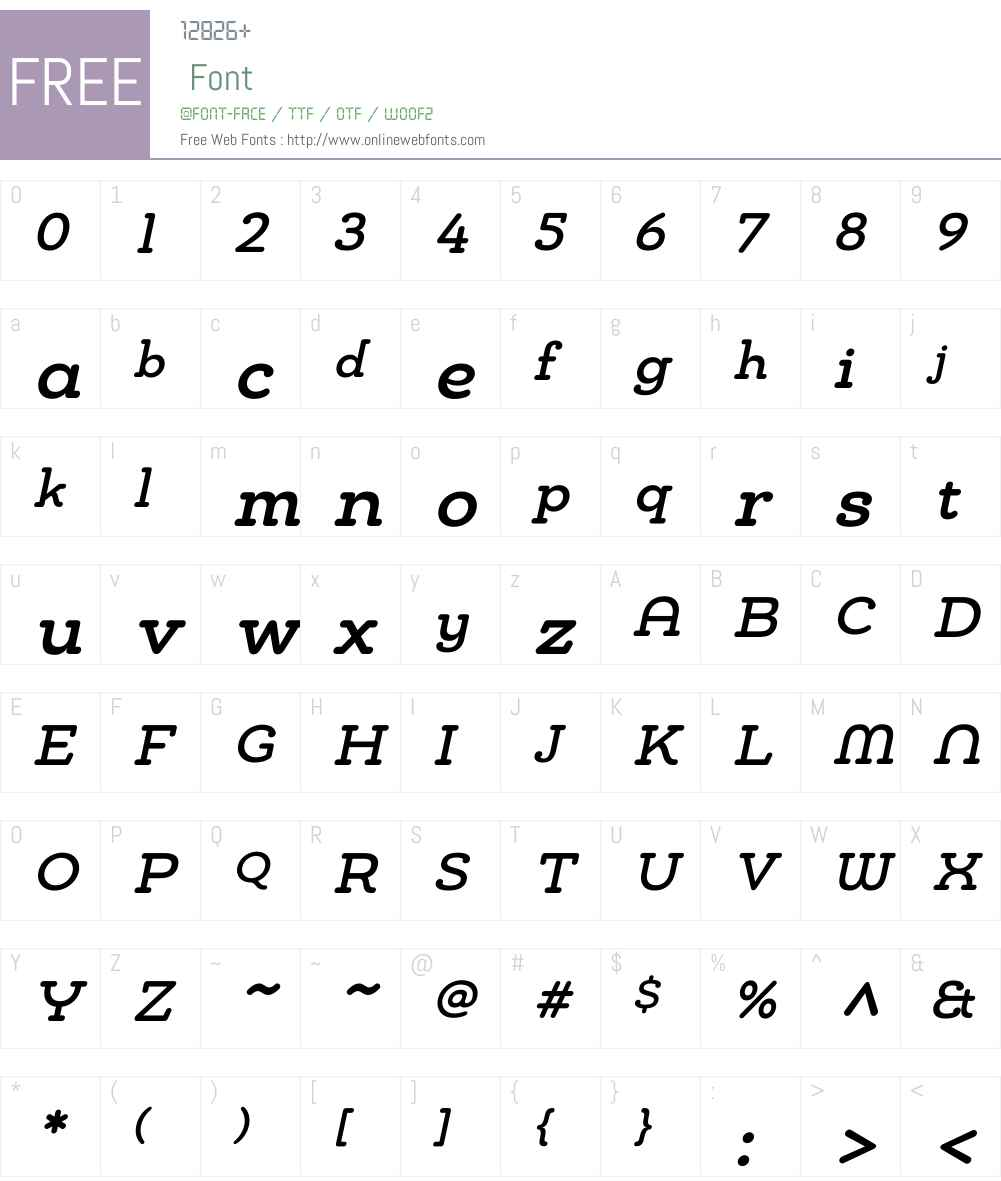 Chennai Slab Medium Oblique Font Screenshots