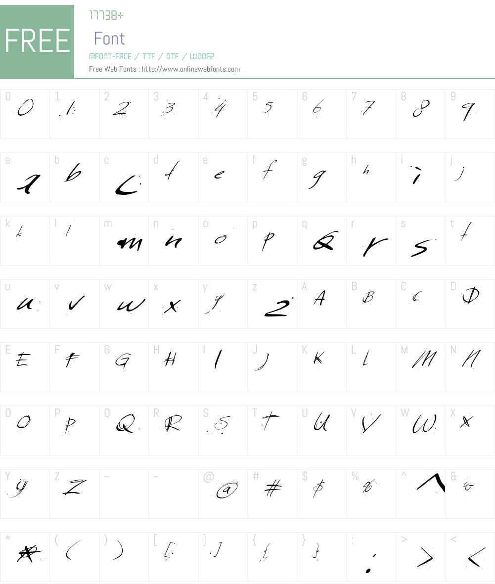 Sunday  Monday Font Screenshots