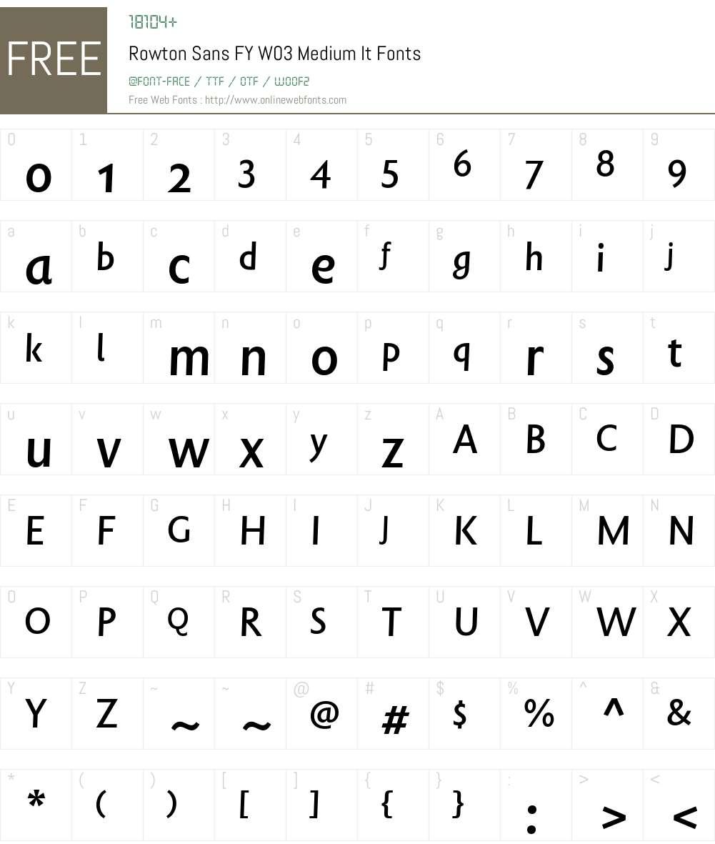 Rowton Sans FY Font Screenshots