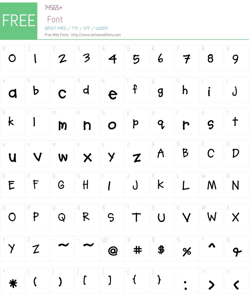SoupBone Font Screenshots