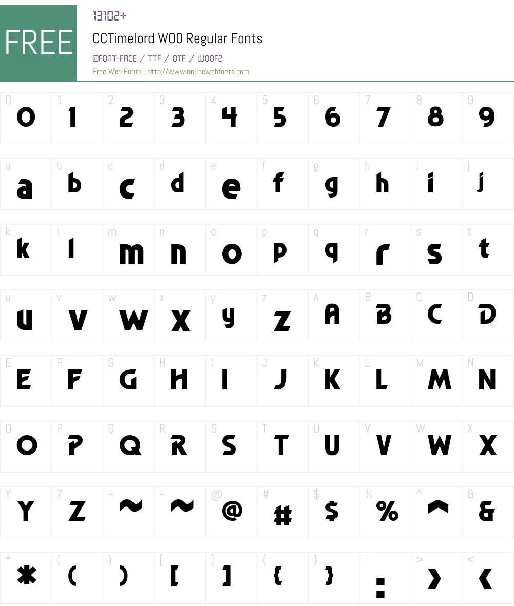 CCTimelordW00-Regular Font Screenshots