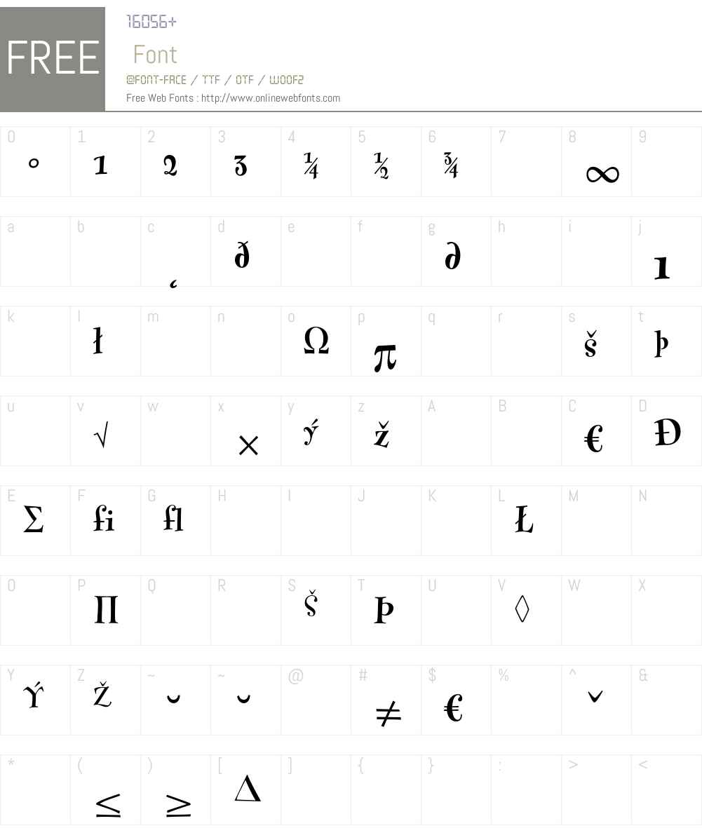 FontesqueText Font Screenshots