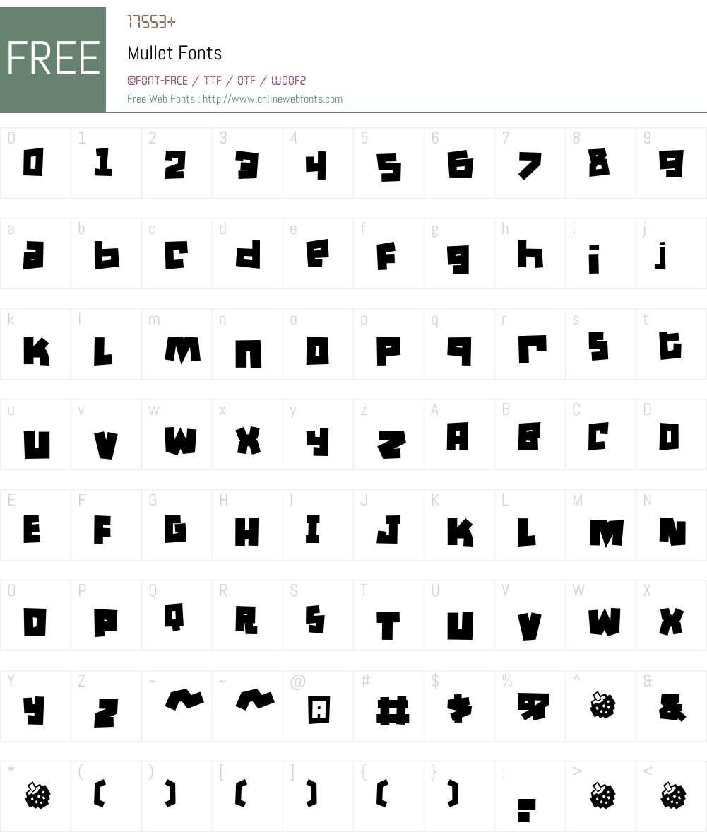 Mullet Font Screenshots