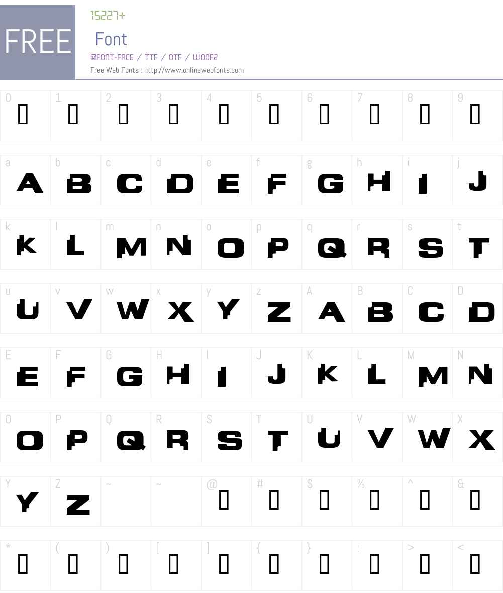 Liandri Font Screenshots