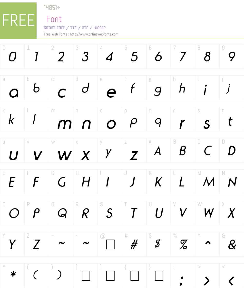 Ronda Font Screenshots
