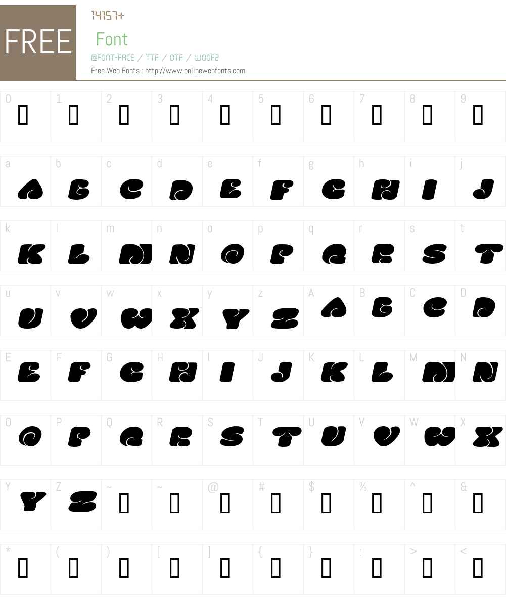 SixtiesVibeExtended Font Screenshots