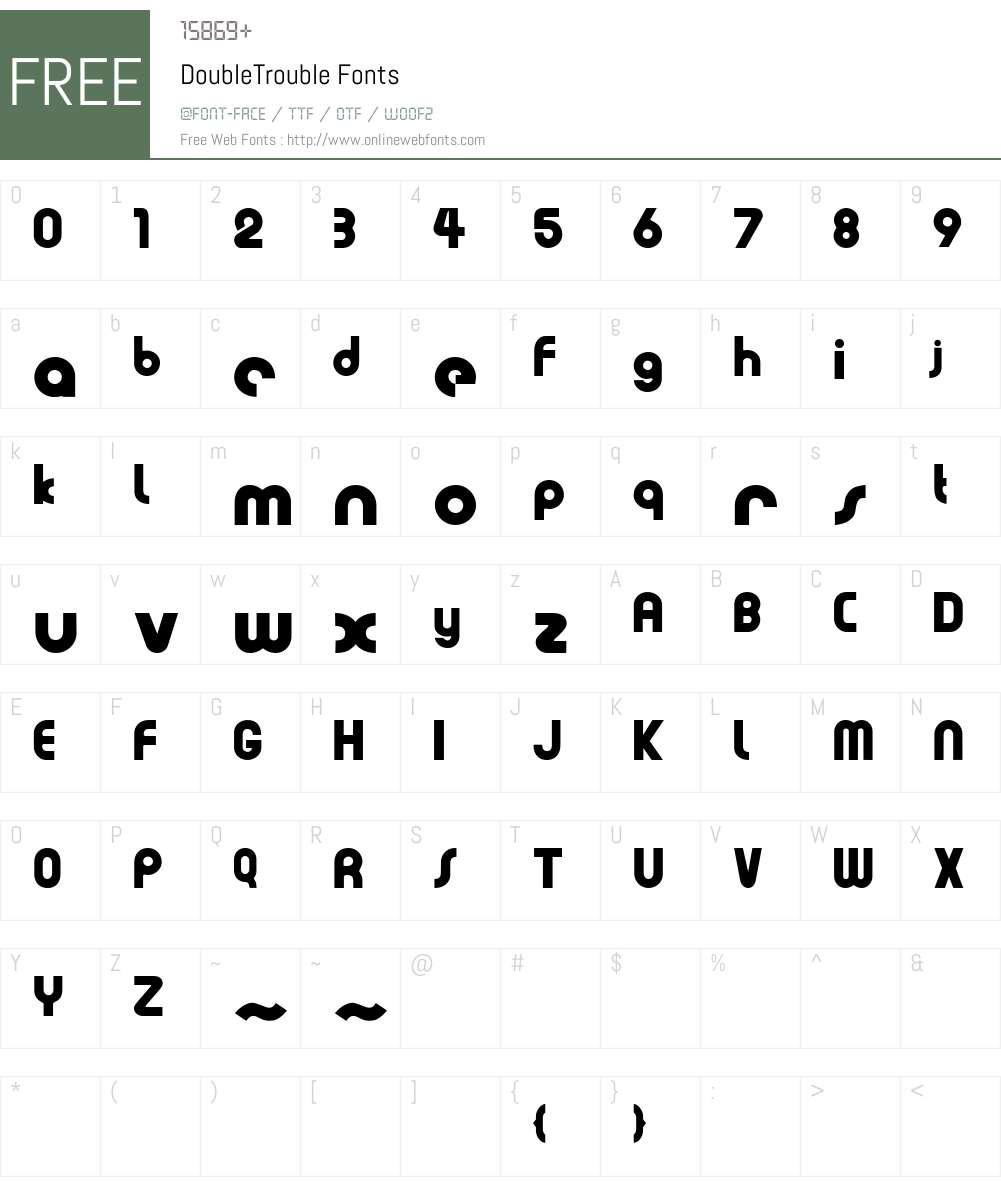 DoubleTrouble Font Screenshots
