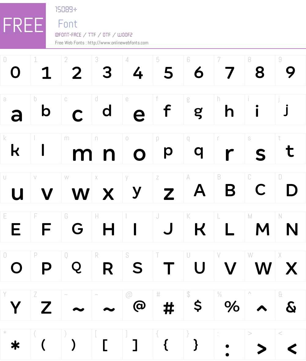 Margem Rounded Medium Font Screenshots