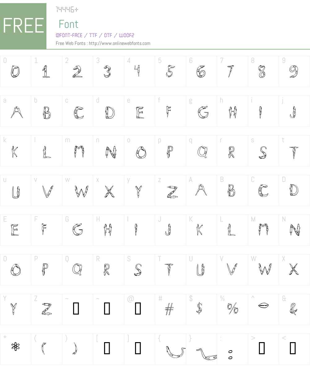Alligators Font Screenshots