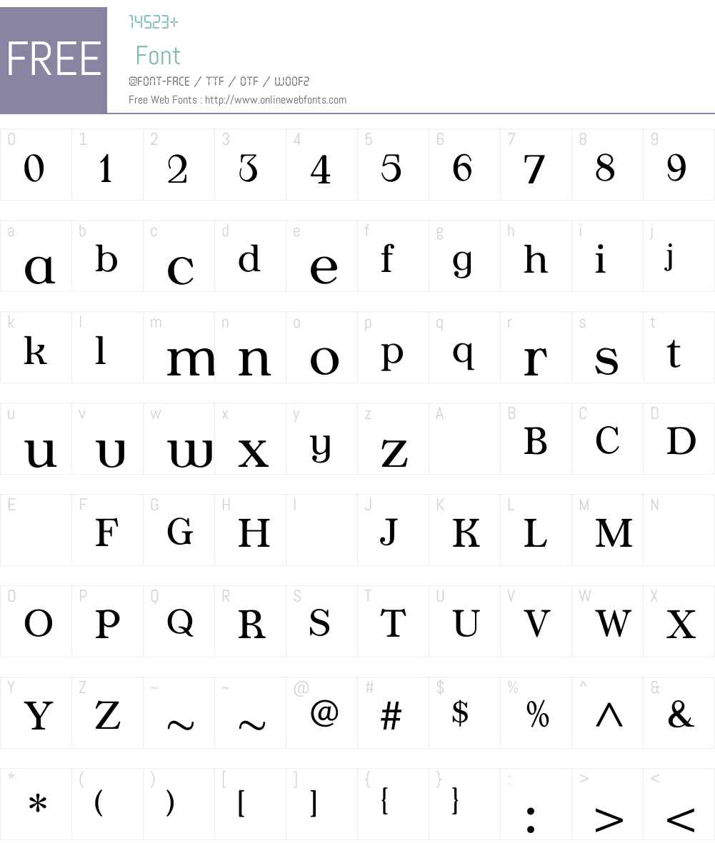 AppleyardLight Font Screenshots