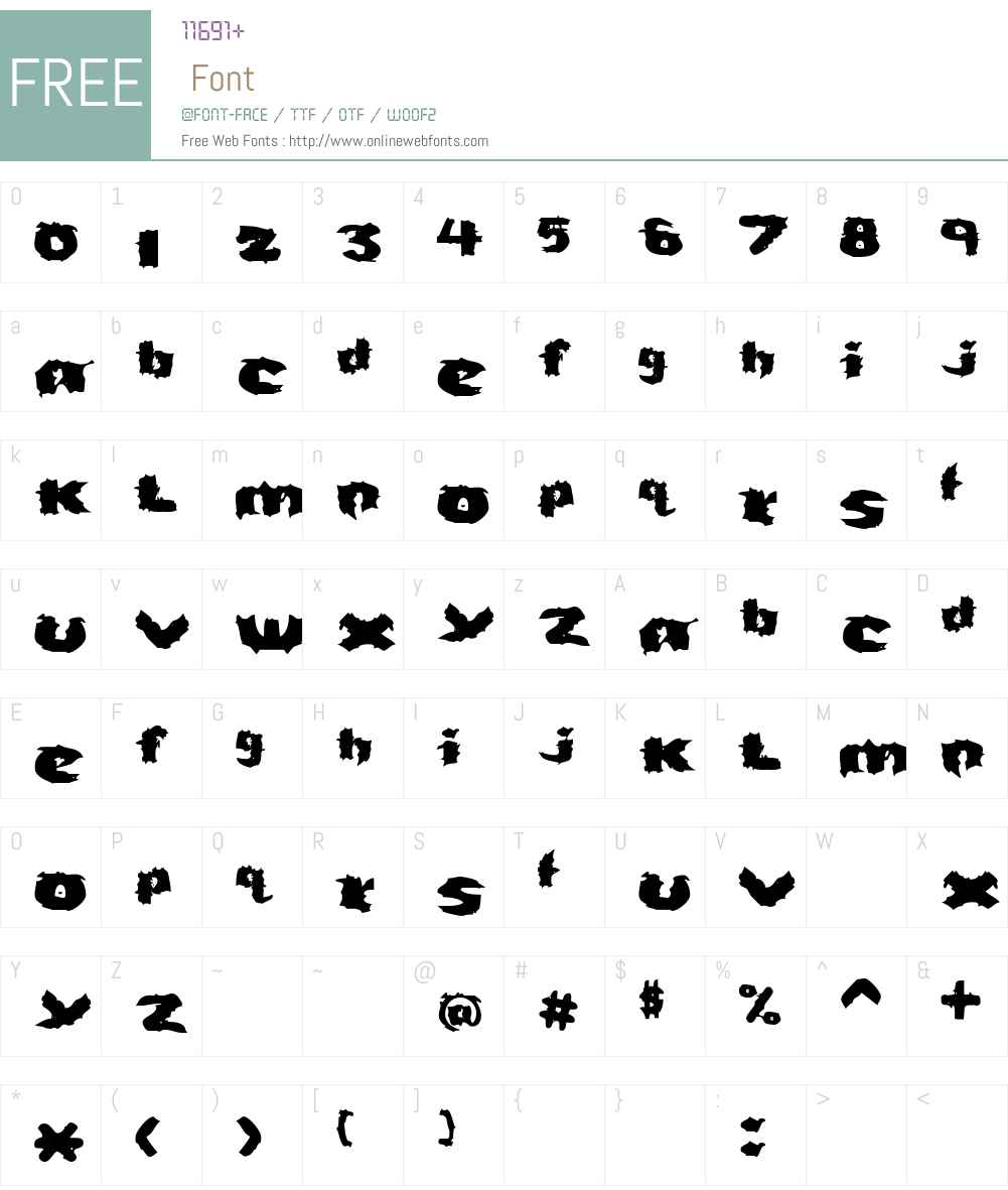 Severed Font Screenshots