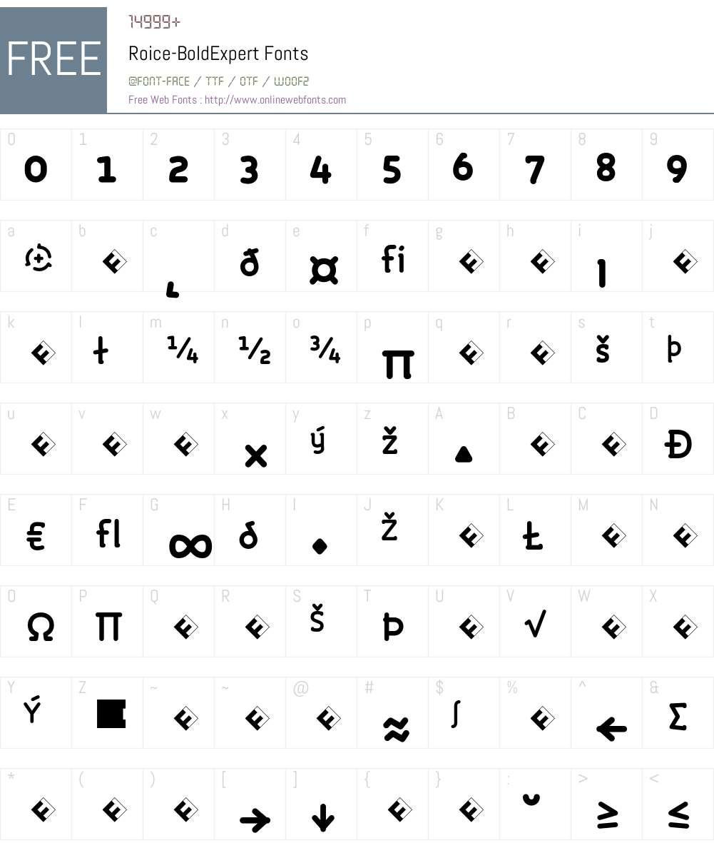 Roice-BoldExpert Font Screenshots