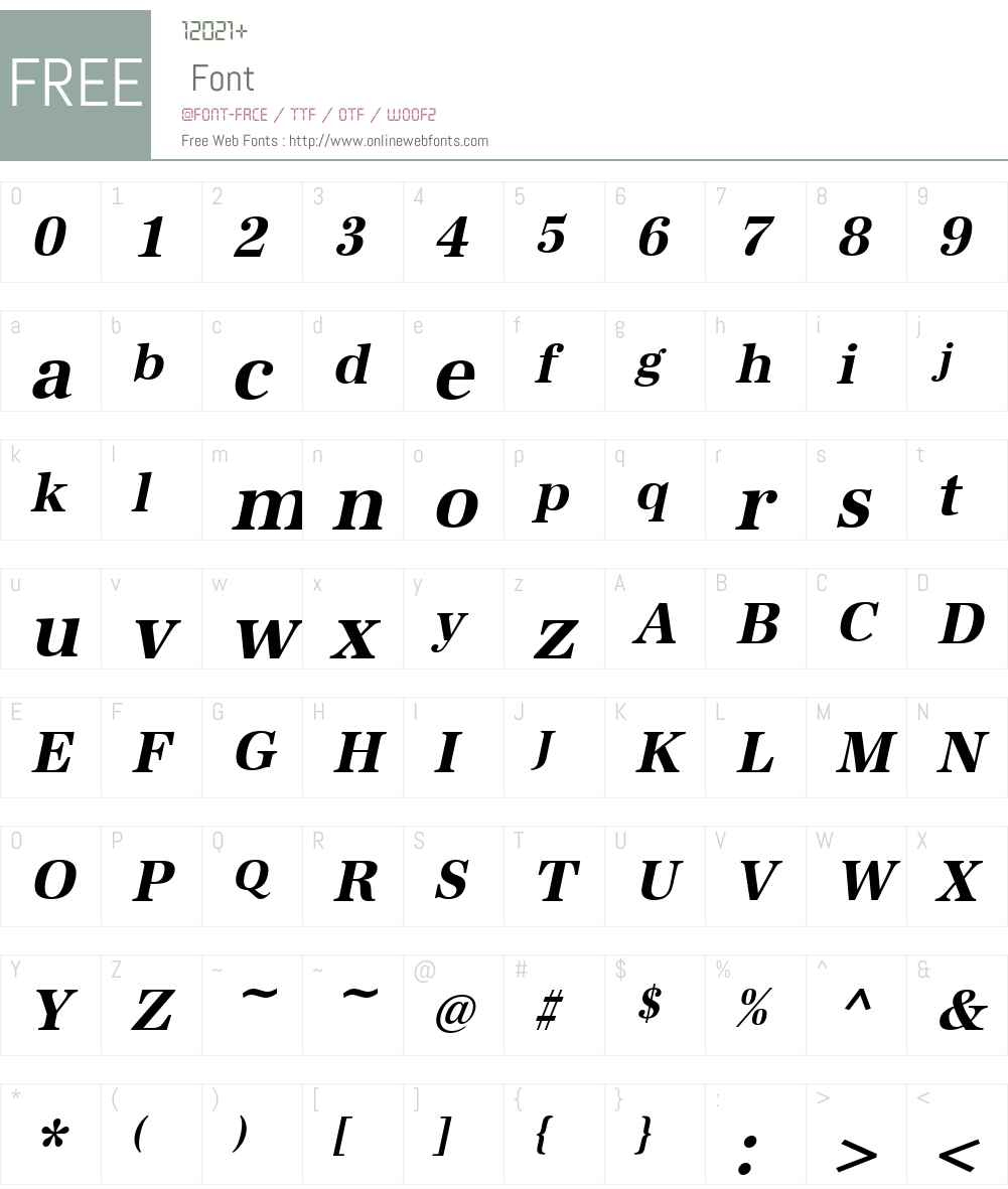 URWAntiquaTNar Font Screenshots